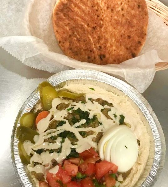 Hummus and Ful (Fava beans)